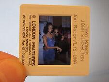 Original Press Promo Slide Negative - Tyra Banks & John Singleton - 1990's