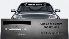 Vauxhall sunstrip calcomanía y posterior + menor calcomanía Vectra, Corsa, Con Nuevo Logo