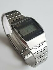 Seiko 0432-4000 LC Quartz Massiv voll Edelstahl Watch Selten Rarität 1976 Japan