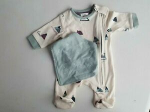 John Lewis Tiny Baby Bodysuit with Bib Multicoloured New no Tag with defects UK