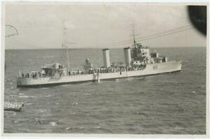 HMS Glorious Escort Destroyer H11 Salvaging Biplane Large Original Photo, BZ889