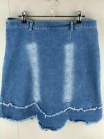 Be Bop Womens Blue Denim Above The Knee Casual Mini Skirt Size 14