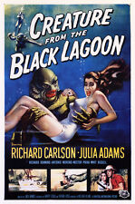 Creature From the Black Lagoon Movie Poster, 1950's Horror Film