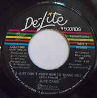"""JUNE CAREY ~ I Just Dont Know How To Thank You ~ 7"""" Single USA PRESS - PROMO"""