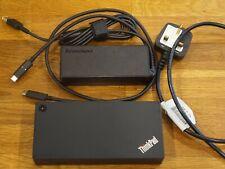 Lenovo Thinkpad USB-C Dock Laptop Docking Station 40A9 (UHD 30Hz /Dual FHD 60Hz)
