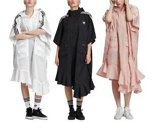 adidas Originals x J KOO Women's Oversized Trefoil Poncho Rain Coat Cape Jacket