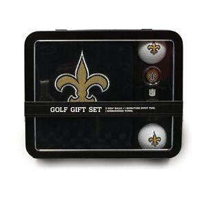 Orleans Saints Golf Gift Set Golf Towel Golf Balls Divot Tool Set USA SHIPPER