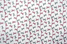 Horse Cotton Shirt Fabric Stretch Small Ditzy Print By the yard BFab