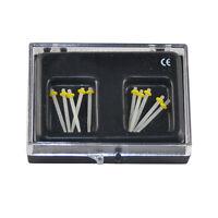 10Pc Dental Fiber Post Glass Refill Drill Thread P- taper Files Yellow colored