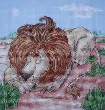 KL81 Lion Counted Cross Stitch Kit Par Vanessa puits de goldleaf Needlework