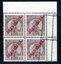 KAP VERDE 1912 105 per 4 */** TOTAL VERZÄHNTE EINHEIT (E7926