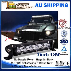 7inch 18W Spot LED Slim Flood Light Bar Work Lamp Driving Offroad SUV ATV Truck