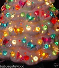 80 Bows 8 colors Ceramic Christmas tree lights bulb flame twist star fit vintage