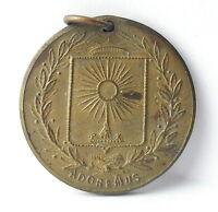 Médaille pendentif Ville de Paris Pax Adoremus c1920 A J Corbierre 22mm Medal