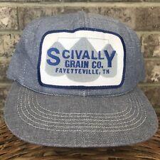 K-Products Denim Style Hat Big Patch Scivally Grain Co Fayettevill SnapBack Cap