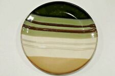 New listing Home Trends Jazz Natural Dinner Plate Brown Green Tan White & Black