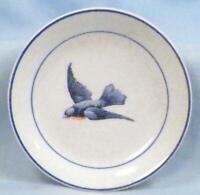 Antique Bluebird Butter Pat Earthenware Fine Crazing A Little Paint Wear #3