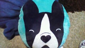 Boston Terrier Frenchie Dog Warm And Snuggly Micro Fleece Pillow