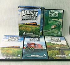 The Worlds Greatest Railway Journeys DVD Boxset Damaged Casing 4 DVD's W967