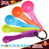 5 PCS COLORFUL PLASTIC MEASURING SPOONS SET KITCHEN UTENSIL COOKING BAKING TOOL