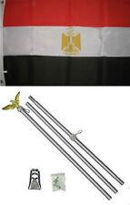 3x5 Egypt Flag Aluminum Pole Kit Set 3'x5'