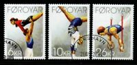 Faroe Islands Sc 514-16 2009 Thorshavn Gymnastic Club stamp set used