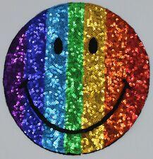 Sequin Patch: Rainbow Smilee