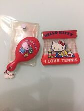 VINTAGE 1976~SANRIO HELLO KITTY~RED PLASTIC METAL COIN PURSE And Mirror