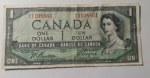 1954  $1.00  CANADA WITH DEVIL'S FACE  BEATTIE AND COYNE