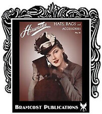 1940s Hats Bags Purses Accessories Crochet Knitting Patterns Book (Millinery)