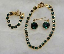 """CHIC! EMERALD Rhinestone Jewelry Set Necklace Earrings for Cissy 20-22"""" Doll"""