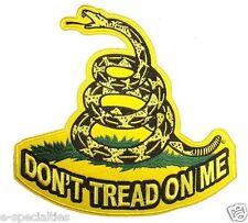 Super Size Don't Tread On Me Embroidered Large Back Patch Biker Emblem