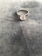 Solitaire Round Cut engagement Zircon not diamond 14k White Gold Wedding Ring