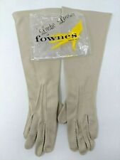 Ladies Vintage Dress Gloves Lastic Leather by Fownes One Size A 6-7