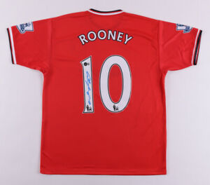 Wayne Rooney Signed Manchester United Jersey Beckett COA!