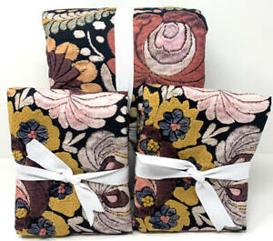 New~Pottery Barn Helena Printed Embroidered Floral KING Duvet & 2 Euro Shams