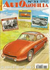 AUTOMOBILIA 31 COACH PANHARD DB HBR5 SIMCA ARONDE P60 HOTCHKISS 1929 35 AFG