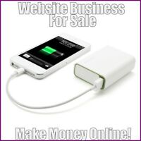 "Fully Stocked Dropshipping SMARTPHONE POWER BANK Website Store. ""300 Hits A Day"""
