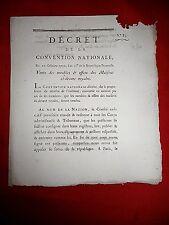 490 LOI & DECRET CONVENTION NATIONALE 1792  VENTE DES MEUBLES MAISON ROYALE