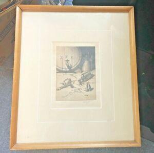 Vintage Drunk Elf Original Etching (ed. 100)  Robert Lawson (1892-1957) 15X17