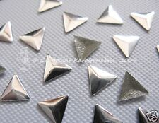 100 Hotfix  Metall  Formen Dreieck Silber 6mm aufbügeln Nailheads Karostonebox