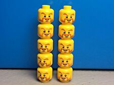 LEGO MINIFIG Male Head Dark Orange Beard Goatee Minifigure Head (x10)