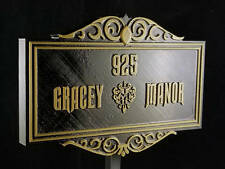 Personalized Haunted Mansion Inspired Address Sign Prop / Plaque Replica