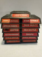 13 Game Intellivision lot (see pics for exact games) manuals/overlays for most