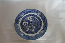 OLD WILLOW SAUCER - 14.5cm - MADE IN ENGLAND-GOOD CONDITION SEE PICS