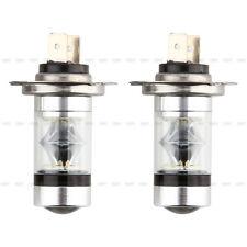 2X H7 LED 100W Lampada Lampadina Auto Nebbia Bianco Luce Fog Light 12V