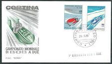 1966 ITALIA BUSTA SPECIALE ROMA MONDIALI DI BOB 1° GIORNATA BOB A DUE  - EDG19