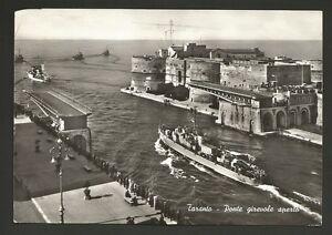 AD8493 Taranto - Città - Ponte girevole aperto - Imbarcazione in transito