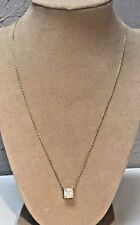 Judith Ripka 14k Clad Over Sterling Silver Necklace With Emerald Cut Cz