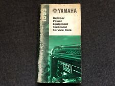 1999 YAMAHA Outdoor Power Equipment Technical Service Data Booklet